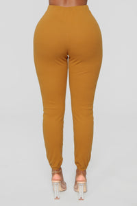 It's Just You And I Pant Set - Mustard