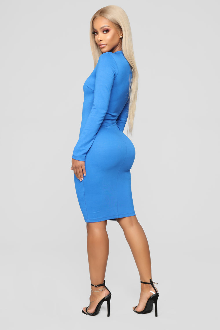 Highest Power Ponte Dress - Royal