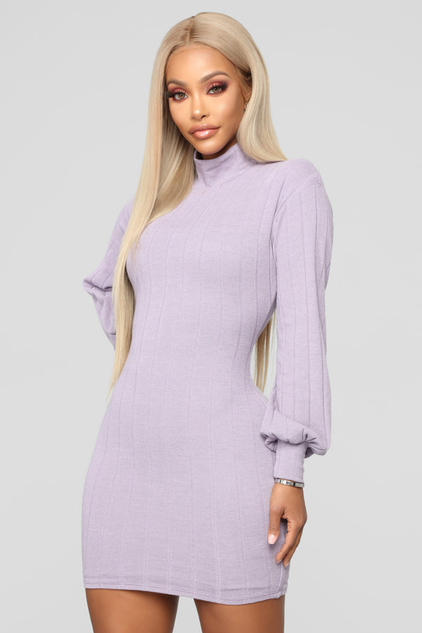 12d81579fa1 Having It Your Way Sweater Dress - Lavender