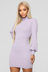 305015a101d FASHION NOVA. HAVING IT YOUR WAY SWEATER DRESS - LAVENDER