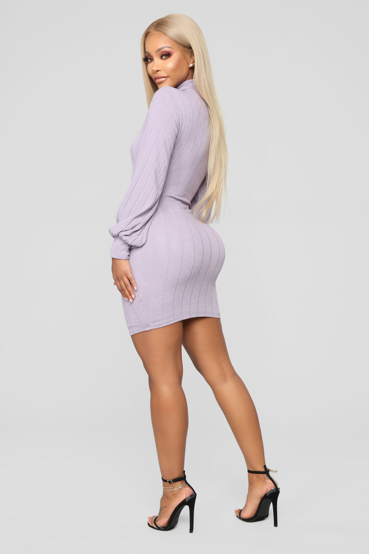Having It Your Way Sweater Dress - Lavender