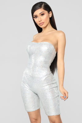 de95dddd33f Birthday Bash Sequin Romper - Hologram