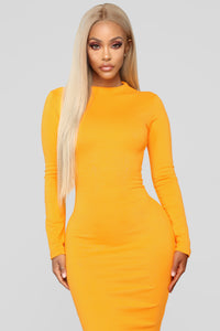 Highest Power Ponte Dress - Yellow