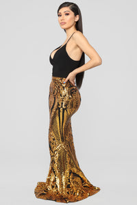 Shine Bright Baby Sequin Skirt - Gold