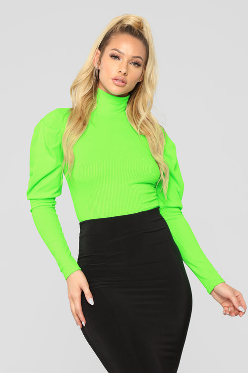 Living Fancy Top - Neon Green eb154509110