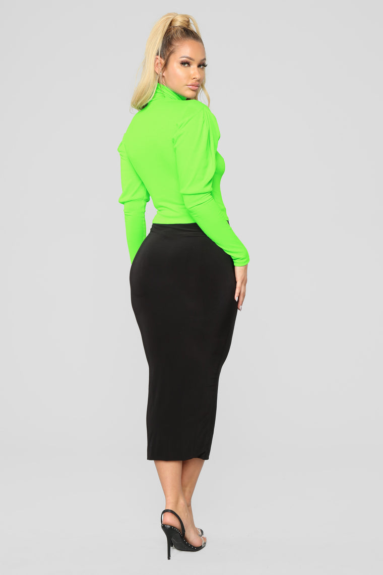 Living Fancy Top - Neon Green