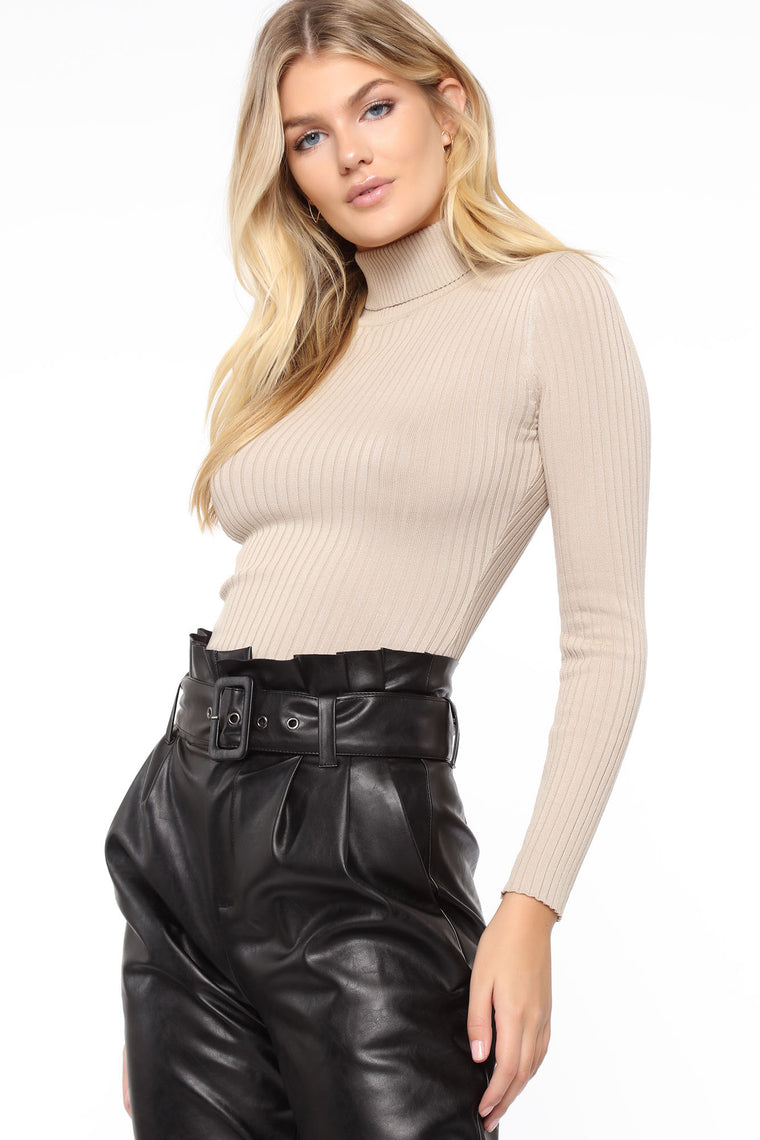 Talulah Long Sleeve Turtleneck - Taupe