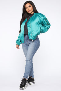 We Got A Good Thing Going Bomber Jacket - Green