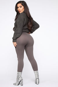 Smooth It Out High Rise Legging - Charcoal Angle 10