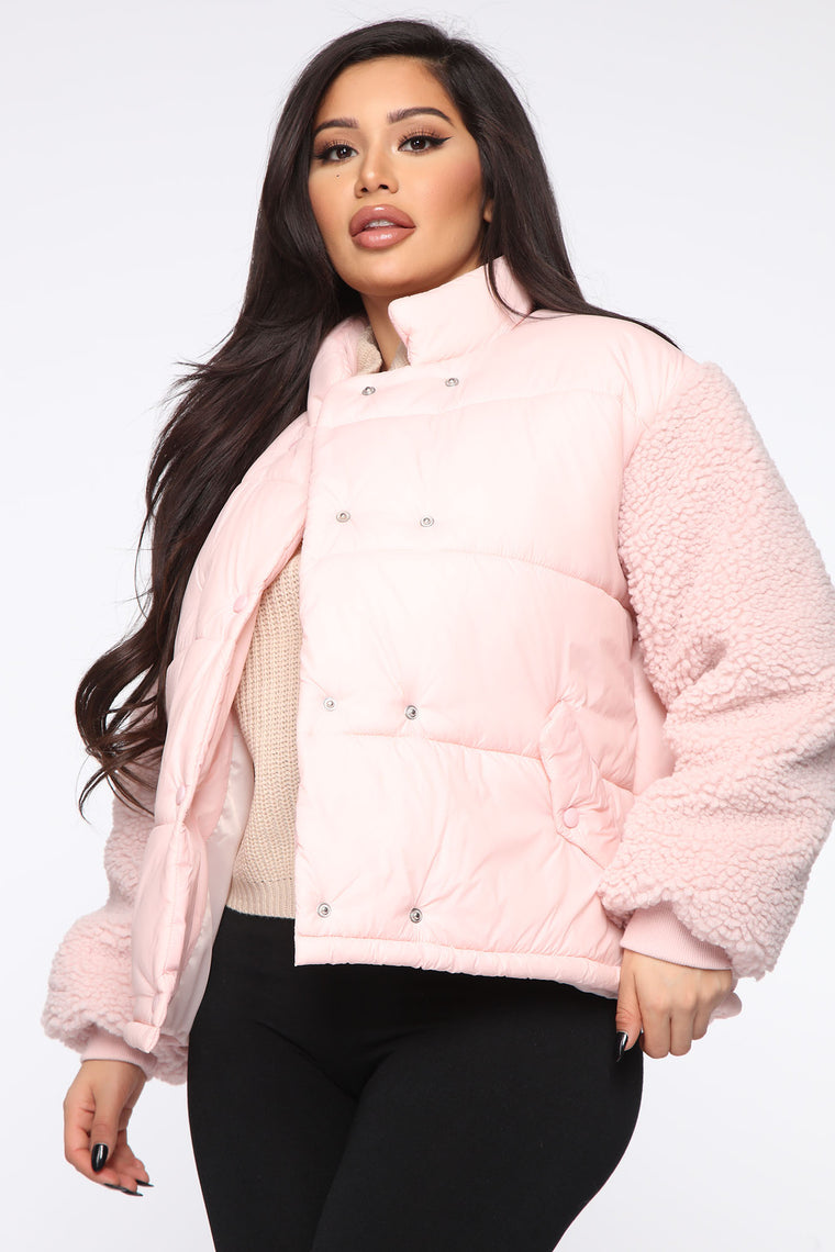 She's That Girl Puffer Jacket   Pink by Fashion Nova
