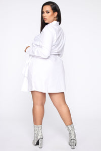Friendship Ties Shirt Dress - White Angle 9