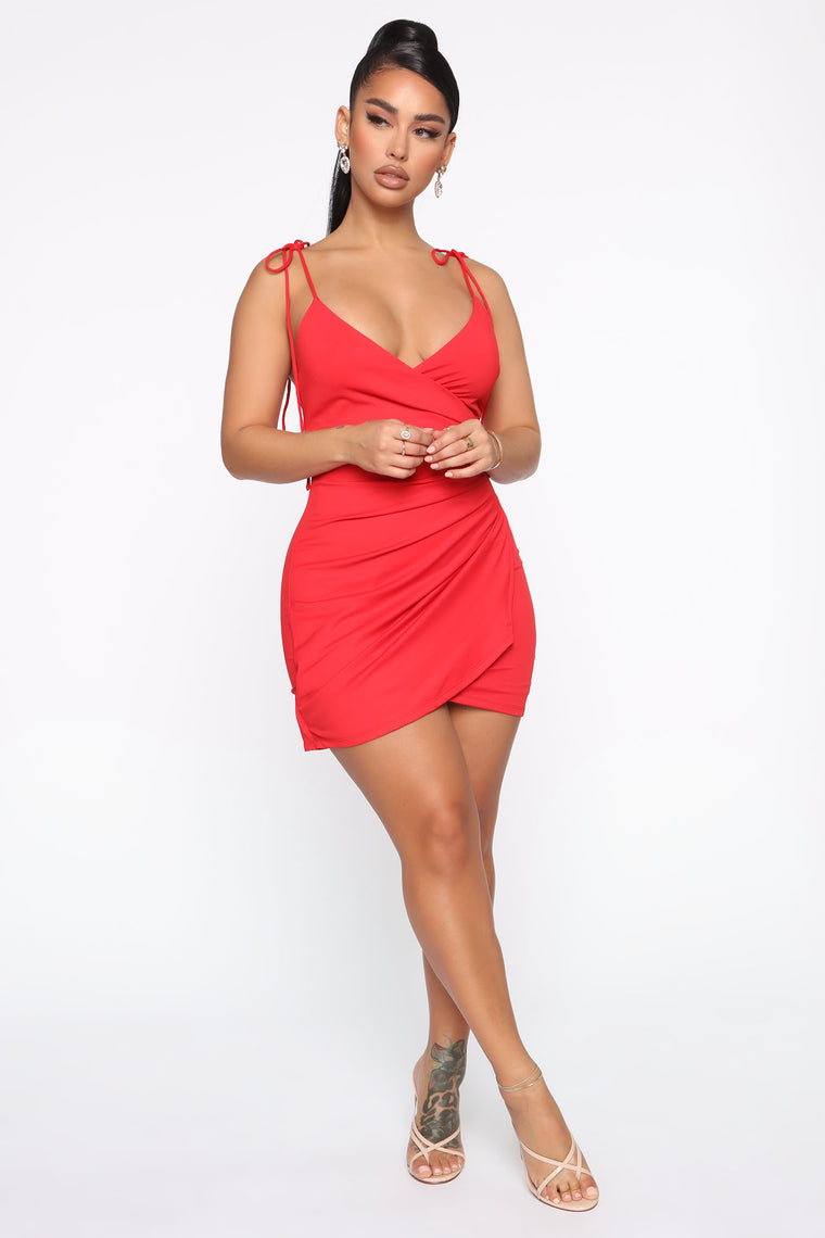 Tell The Truth Mini Dress - Red