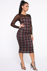 My Forever Love Plaid 2 Piece Dress - Black/combo Angle 3