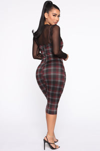 My Forever Love Plaid 2 Piece Dress - Black/combo Angle 4