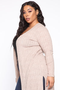 Signing Us Up Cardigan - Taupe