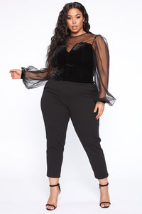 Glam Queen Blouse - Black