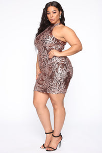Makin' Memories Sequin Dress - Rose Gold Angle 4