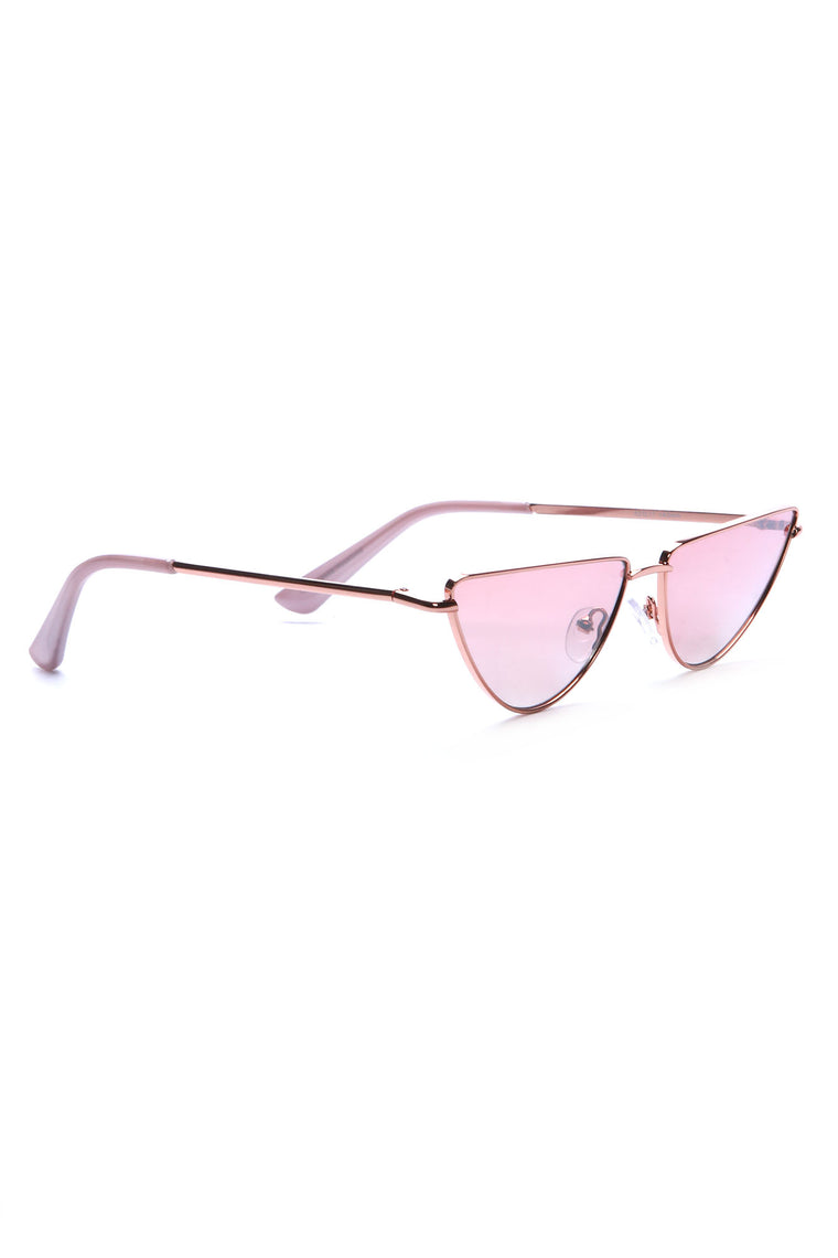 On A Roll Sunglasses - Rose Gold