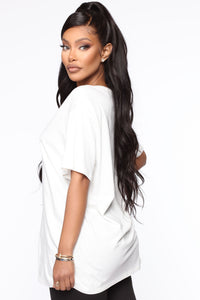 Christina Oversized Tee - White