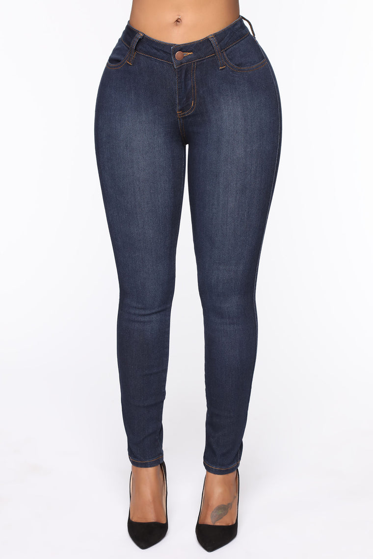 Classic Mid Rise Jeans Shorter Length   Blue Wash by Fashion Nova