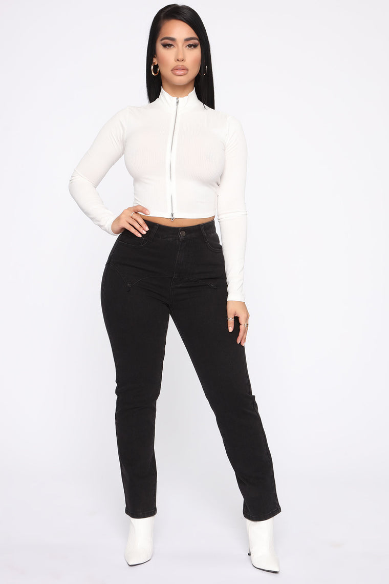 Comin' In Hot High Rise Jeans - Black