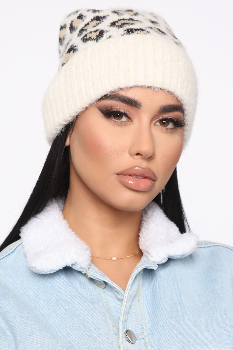 Don't Test Me Beanie - Ivory/combo
