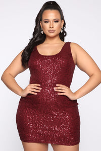 Glam Doll 2 Piece Sequin Dress Set - Burgundy Angle 6
