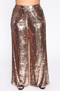 Shinin' Bright Sequin Pant Set - Rose Gold Angle 6