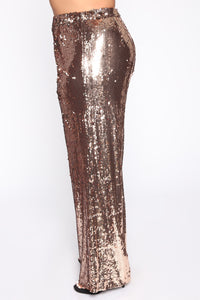 Shinin' Bright Sequin Pant Set - Rose Gold Angle 7