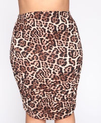 Growling At You Skirt Set - Brown/Combo