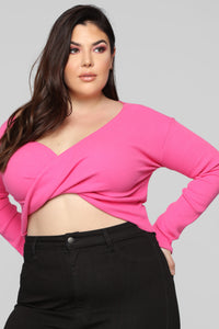 Twisted Sista Top - Pink Angle 6