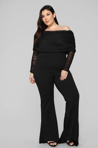 Kendall Ruched Jumpsuit - Black Angle 6