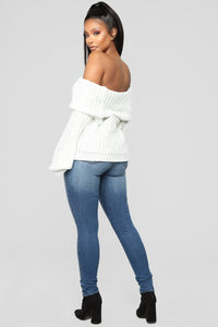 Brandy Foldover Sweater - Ivory