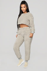 Winter Cabin Nights Pant Set   Grey by Fashion Nova