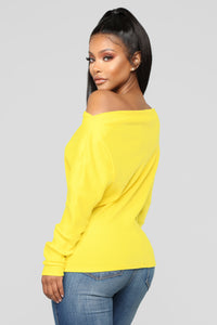 Crazed In Love Sweater - Yellow