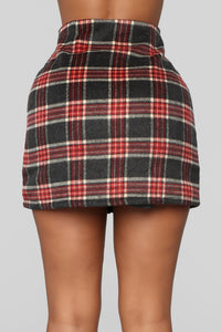 Scotty Doesn't Know Plaid Skirt - Grey/Combo Angle 5