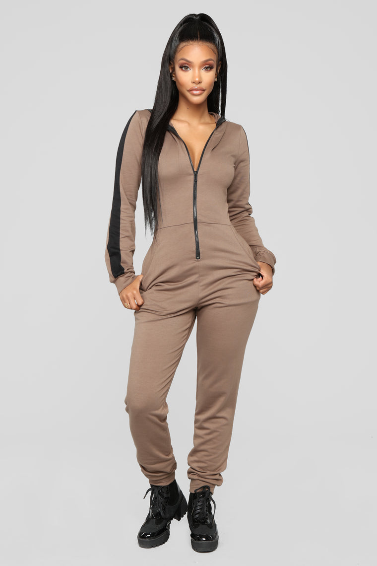 Just Relax Lounge Jumpsuit - Mocha