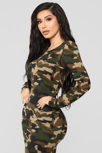 She's In Charge Camo Dress - Camouflage