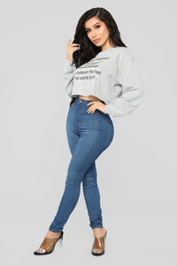 Keepin' It Real Sweatshirt - Heather Grey