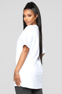 Main Bitch Tunic Top - White Angle 4