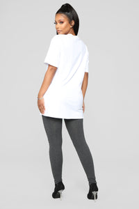 Main Bitch Tunic Top - White Angle 6