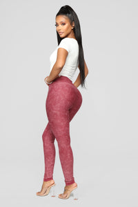 Fire In My Soul Seamless Leggings - Brick Red