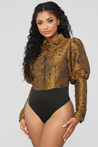 All Or Nothing Bodysuit - Gold