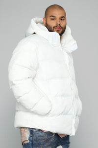 Classic Puffer Jacket - White Angle 8