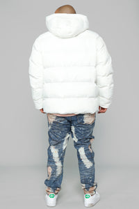 Classic Puffer Jacket - White Angle 10