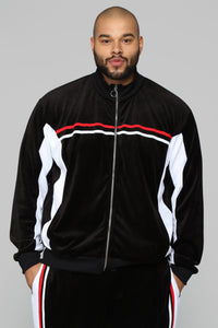 No Option Velour Jacket - Black/Multi Angle 6