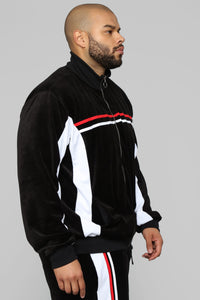 No Option Velour Jacket - Black/Multi Angle 8