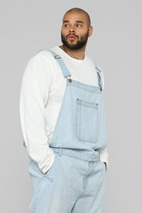 Lennie Overalls - Light Blue Wash Angle 10