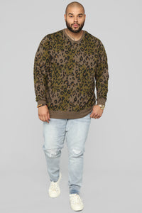 Barron Crew Neck Sweatshirt - Olive
