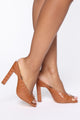 Late Notice Heeled Sandals - Tan